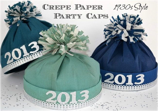 New Year's Craft: 1930s Style Crepe Paper Hat Tutorial