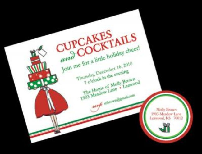 Cupcakes and Cocktail Christmas Party