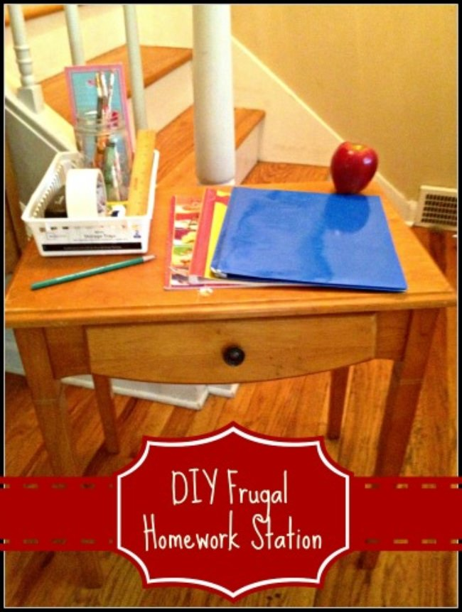 DIY Frugal Homework Station