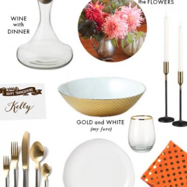 A Chic Thanksgiving Setup {Thanksgiving Details}