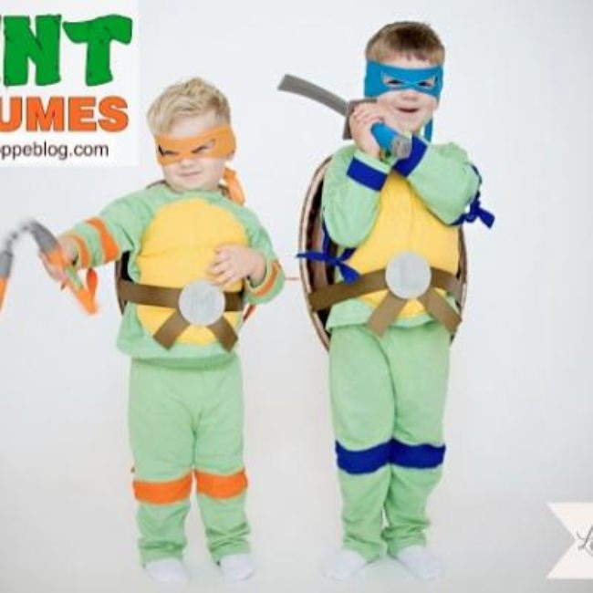 Teenage Mutant Ninja Turtle Costumes {easy halloween costumes}