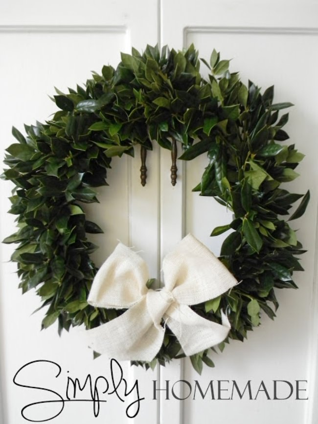 DIY Holly Wreath
