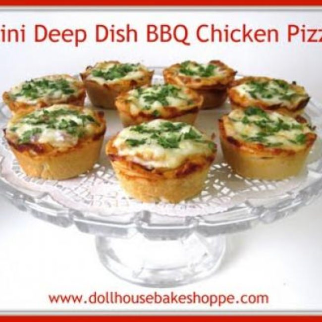 Mini Deep Dish BBQ Pizzas {Appetizers}