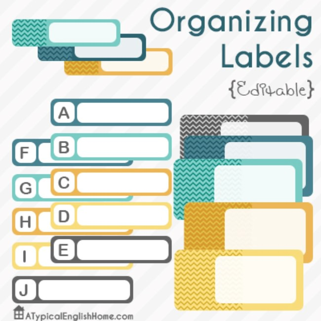graphic about Free Printable Organizing Labels known as 21 Totally free Labels towards Order Your self Prepared printables Suggestion Junkie