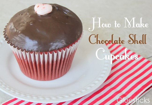 How to Make Chocolate Shell Cupcakes