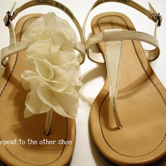 Ruffle Up Your Sandals DIY {Shoes}