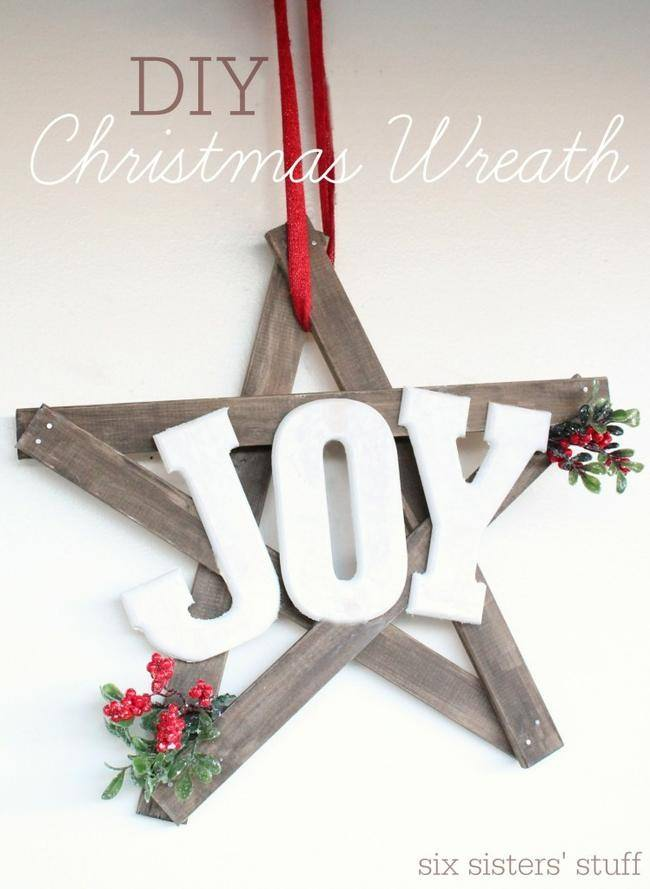 "DIY Christmas ""Joy"" Wreath"