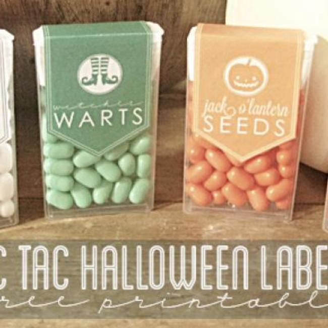 Tic Tac Halloween Labels {Halloween Printable}