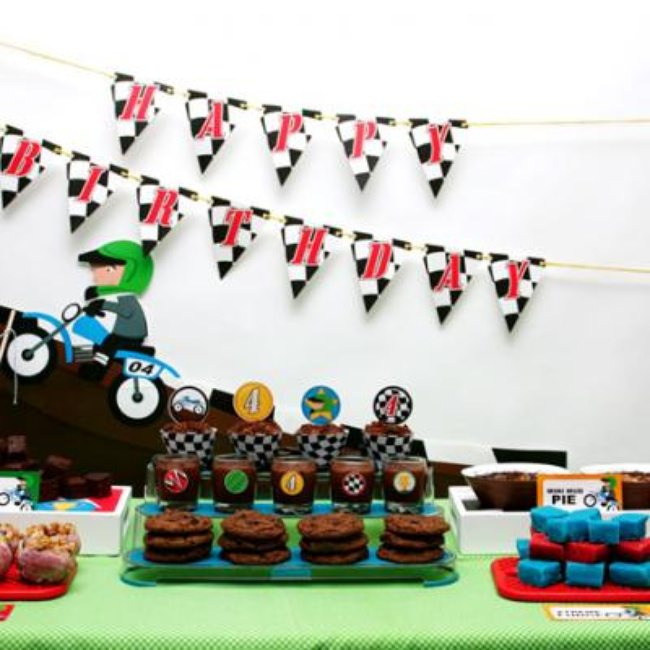 Motocross Party Dessert Table {Boy Party Dessert Ideas}