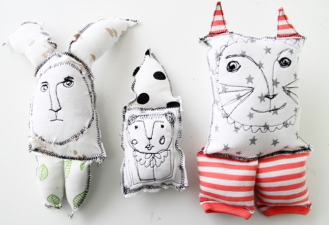 Upcycled Baby Clothing Creatures