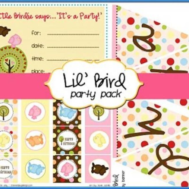 Little Bird Party Pack {Free Printables}