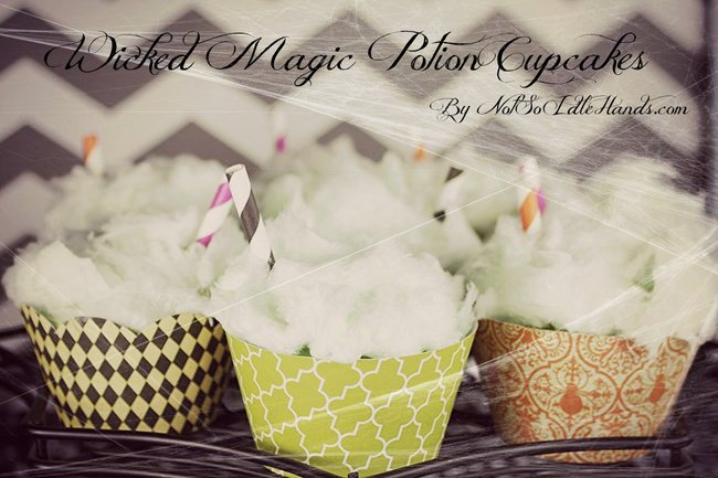 Wicked Magic Potion Cupcakes