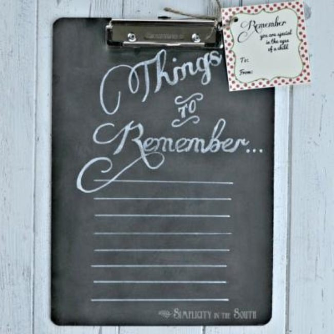 Chalkboard Clipboard {teacher gift}