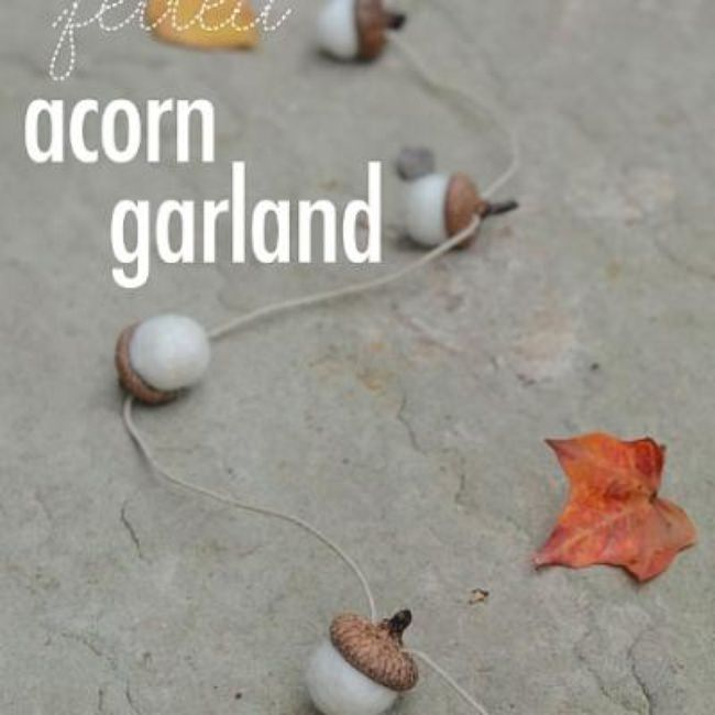 Felted Acorn Garland {fall crafts}