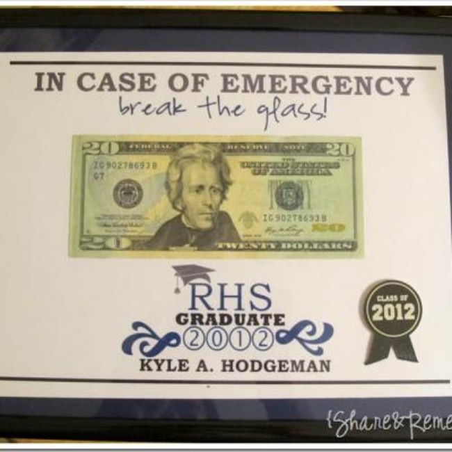 In Case Of Emergency Money {Graduation Gift}
