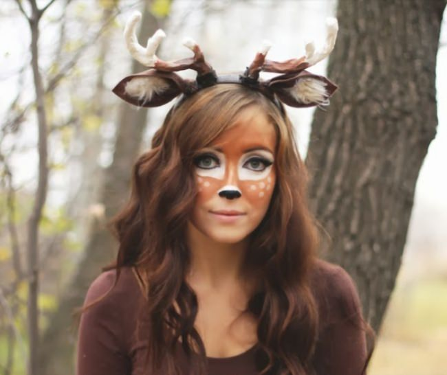 Deer Makeup and Costume