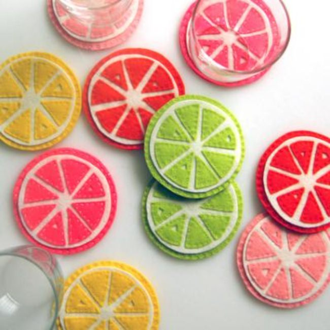 Perfect Citrus Coasters {Coasters}