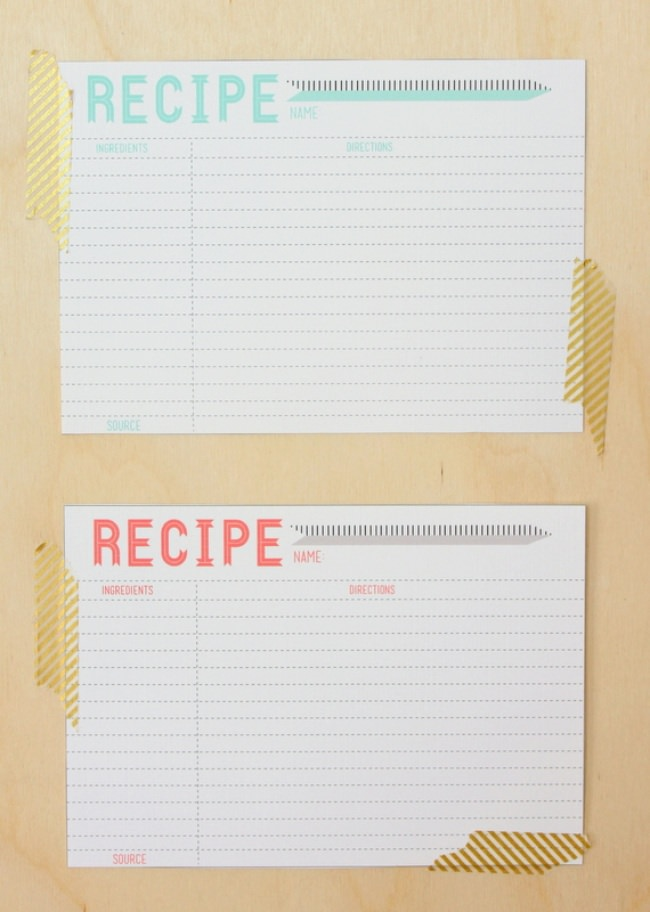 10 Printable Recipe Card Templates {free} | Tip Junkie