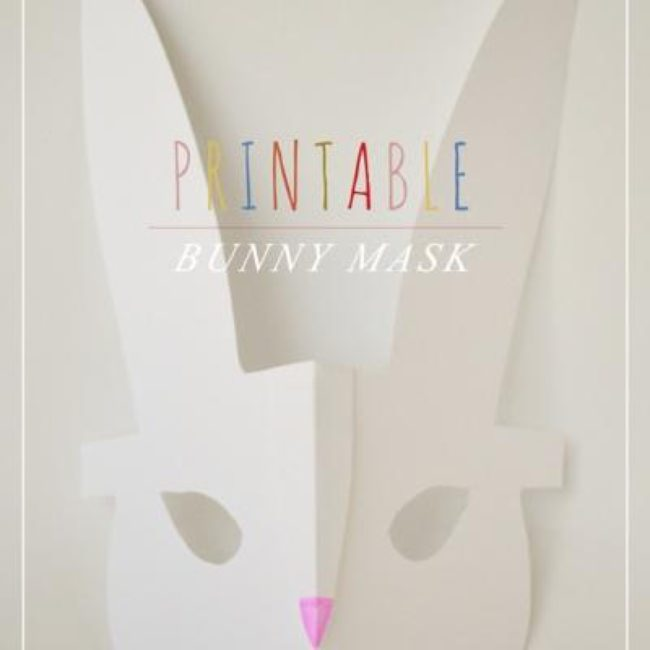 Printable Modern Bunny Mask {Easter Printable}