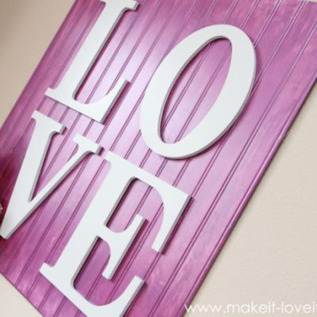 Wooden Love Wall Art {Kids Space Decor}