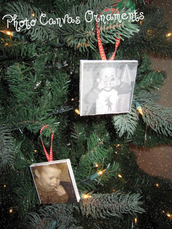 Photo Canvas Ornament
