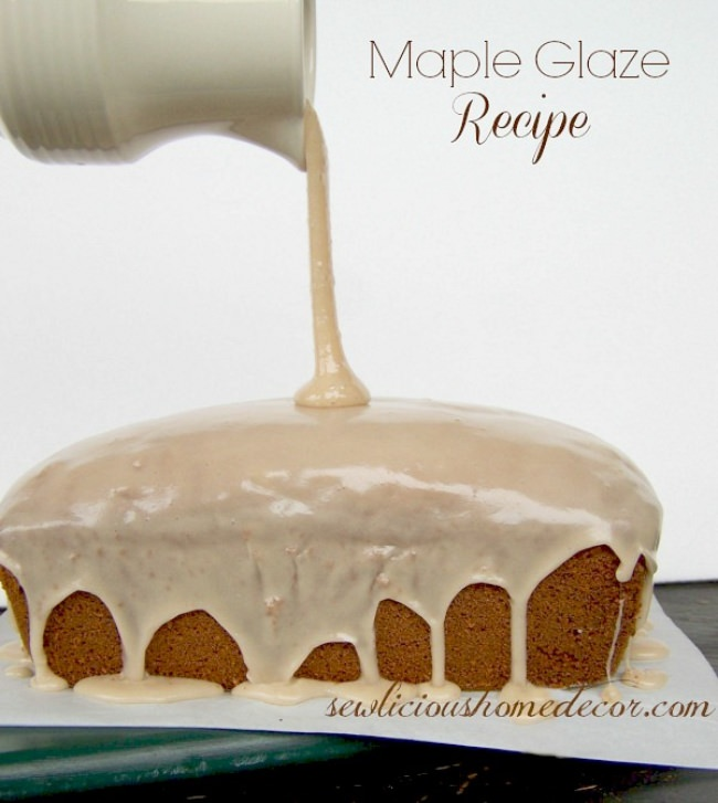 Maple Glaze Topping Recipe
