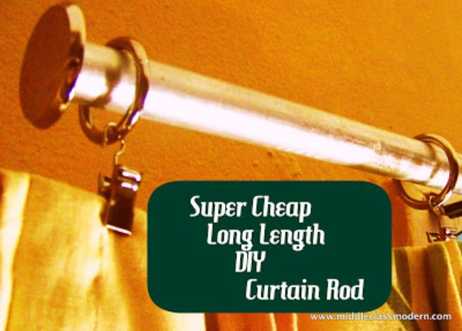 Inexpensive, Easy, DIY Curtain Rod Tutorial