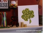 St. Patty's Day Shamrock Canvas Art