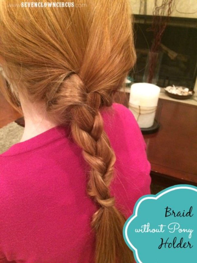Braid Without a Pony Holder {hair tutorial}