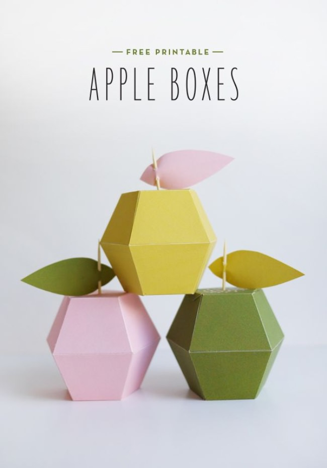 printable apple box