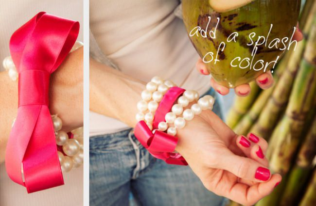 Pearl and Bow Bracelet DIY {Bracelets and Bangles}