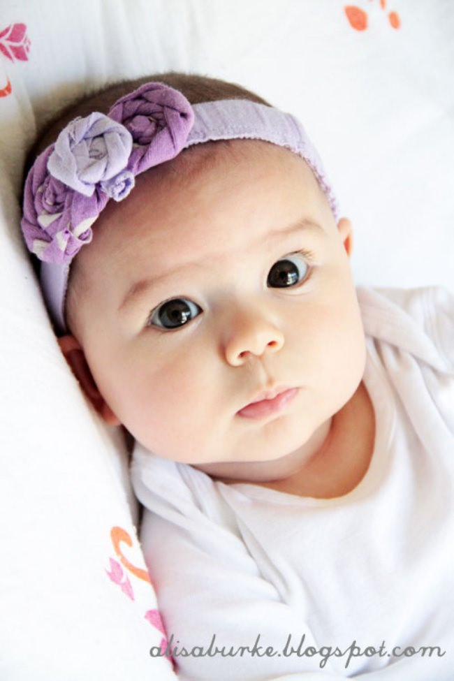 Upcycled Baby Headbands