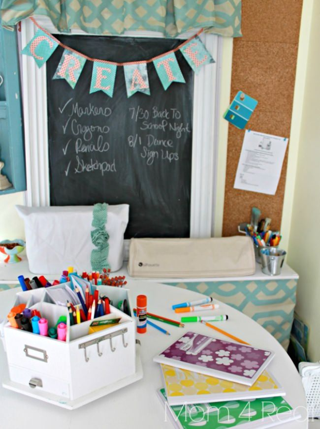 13 DIY Creative Homework Stations {organize}