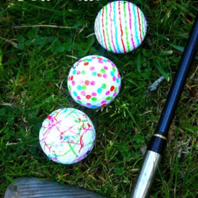 Golf Ball Art {Art Projects}