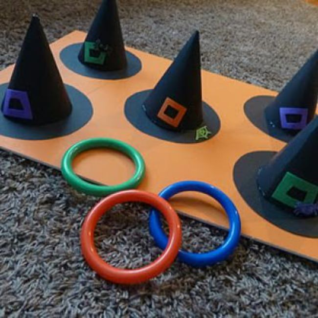 Witch Hat Ring Toss Game {Halloween Carnival Game Ideas}
