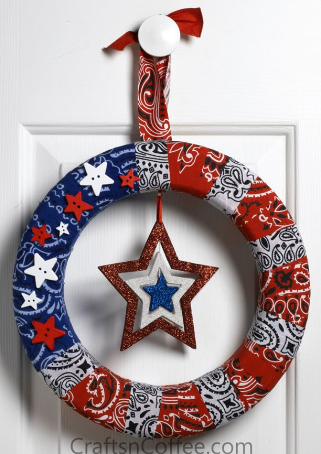 Super-Easy Stars & Stripes Patriotic Wreath