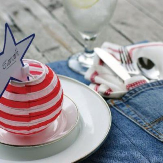 Denim Placemants {July 4 Crafts}