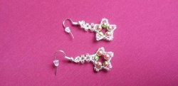 How to Bead Star Shaped Earrings for Christmas with Glass Beads