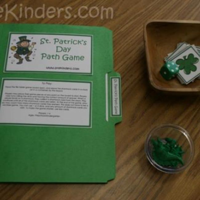 Clover and Path St. Patrick's Day Game {St. Patrick's Day Game}