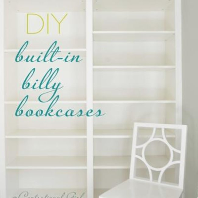 How to Make Built-in Bookcases from Ikea Billy Bookshelves {ikea hack}