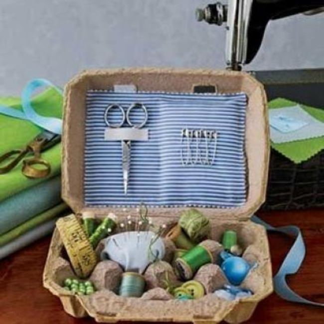 Egg Carton Sewing Kit {Sewing Kits}