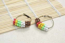 Free Instructions on Making Native American Beaded Hoop Earrings