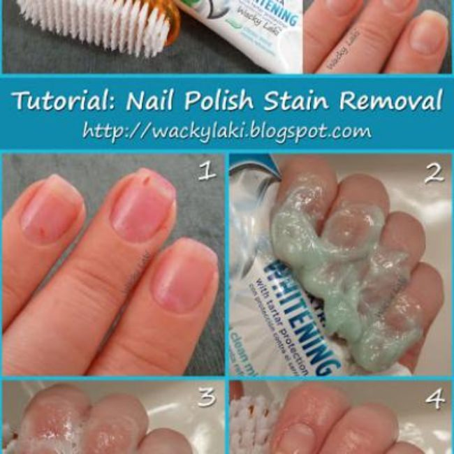 Nail Polish Stain Removal {Nails}