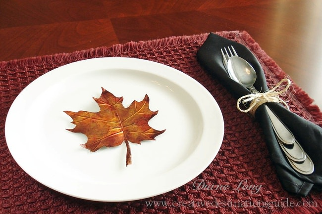 How to Make Fall Leaves out of Metal