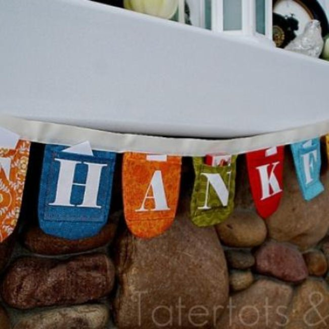 DIY Thanksgiving Countdown Bunting {giving thanks}
