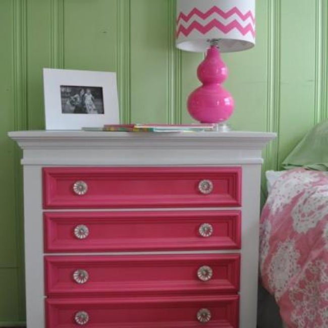 Colorful Nightstand DIY {Nightstands}