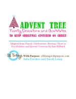 Advent Tree and Printable Family Devotions