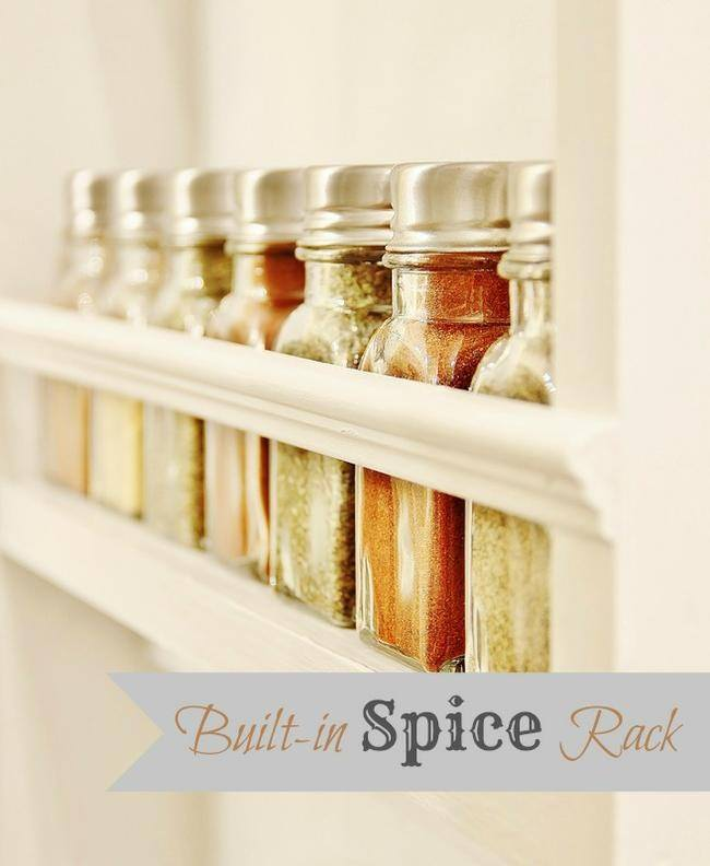 Built-in Spice Rack {diy}