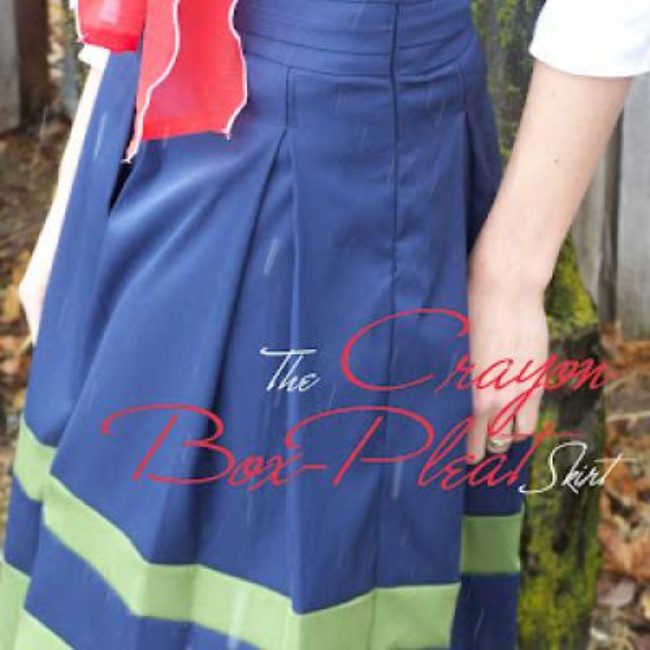 Box Pleat Women's Skirt Tutorial {Box Pleat}