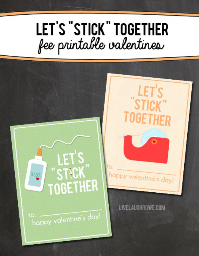 Lets Stick Together Valentine